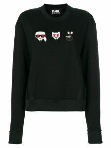 Karl Lagerfeld Emoji Karl & Choupette sweatshirt - Black