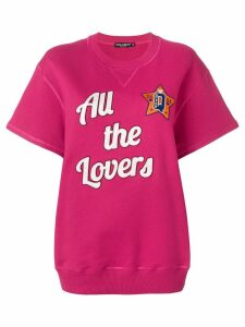 Dolce & Gabbana All The Lovers short sleeved sweatshirt - PINK