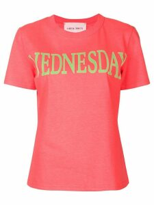 Alberta Ferretti Wednesday print T-shirt - PINK
