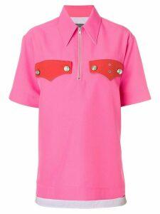 Calvin Klein 205W39nyc zip front oversized top - PINK