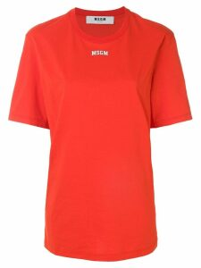 MSGM oversized logo T-shirt - Red