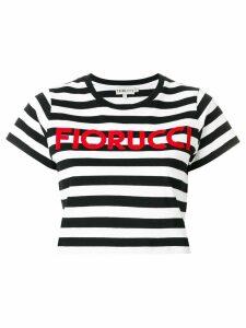 Fiorucci striped cropped T-shirt - Black
