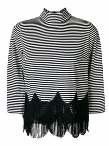 Marc Jacobs striped fringe top - White