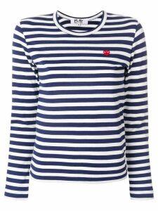 Comme Des Garçons Play striped T-shirt - White