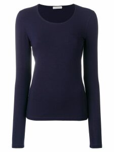 Le Tricot Perugia long sleeved T-shirt - Blue