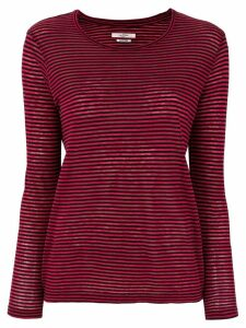 Isabel Marant Étoile striped long sleeve T-shirt - Red