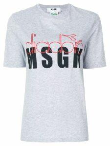 MSGM MSGM X Diadora slogan print T-shirt - Grey