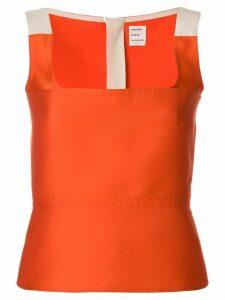 Maison Rabih Kayrouz colour-block fitted vest top - ORANGE