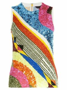 Manish Arora geometric patterned tank top - Multicolour