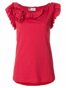 LANVIN ruffled tank top - Red