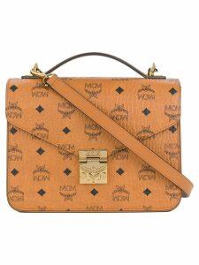 MCM printed crossbody satchel - Brown