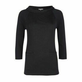 Black Bardot Neck Ponte Tee