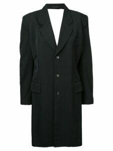 Comme Des Garçons Pre-Owned backless tailored coat - Black