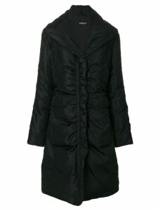 Versace Pre-Owned padded mid-length coat - Black