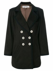 Yves Saint Laurent Pre-Owned double breasted coat - Brown
