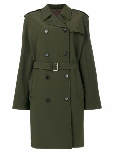 Prada Pre-Owned belted trench coat - Green