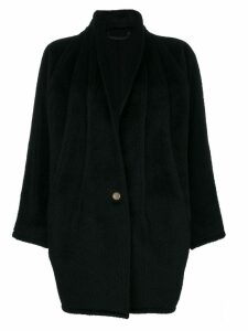 Versace Pre-Owned shawl collar coat - Black