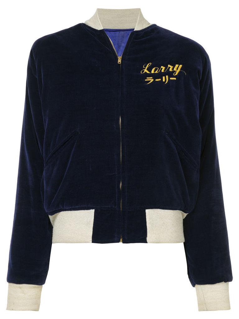 Fake Alpha Vintage 1950s U.S. Navy Souvenir jacket - Blue