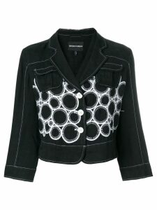 Giorgio Armani Pre-Owned embroidered jacket - Black