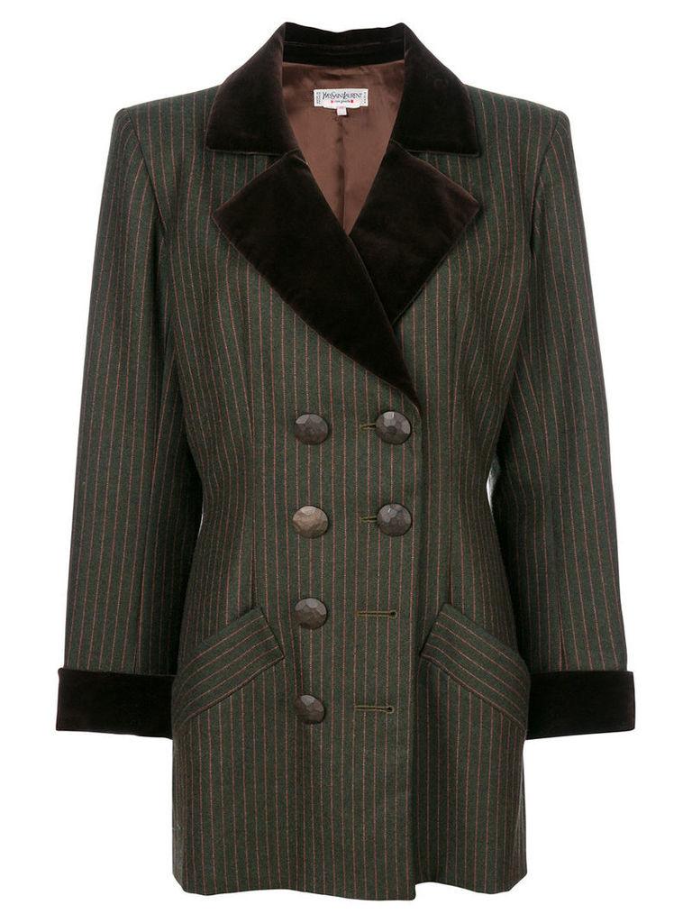Yves Saint Laurent Vintage pinstriped jacket - Green