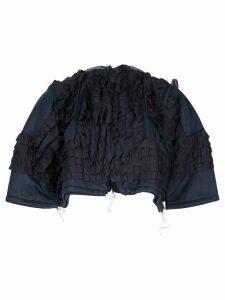 Comme Des Garçons Pre-Owned ruffled jacket - Blue
