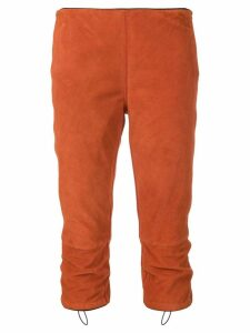Prada Pre-Owned cropped fitted trousers - ORANGE