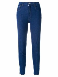 Moschino Pre-Owned cropped jeans - Blue