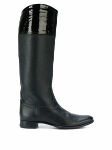 Hermès Pre-Owned riding style boots - Black