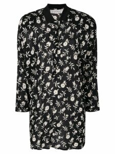 Versace Pre-Owned floral printed shirt - Black