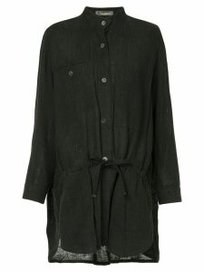 Issey Miyake Pre-Owned long mandarin collar shirt - Black