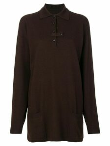 JC de Castelbajac Pre-Owned oversized tunic sweater - Brown