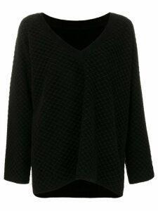 Alaïa Pre-Owned V-neck chunky jumper - Black