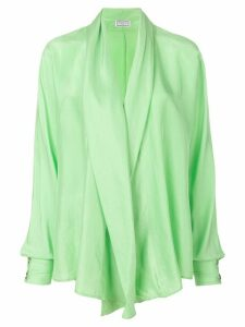 Versus Pre-Owned waterfall draped blouse - Green