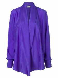 Versus Pre-Owned draped waterfall shirt - PURPLE