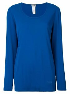 Versace Pre-Owned scoop neck top - Blue