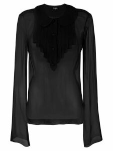Chanel Pre-Owned sheer shirt - Black