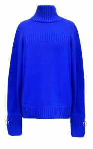 Jamie Wei Huang Cashmere Turtle Neck Jumper Blue