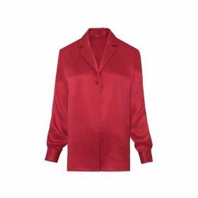 Kitri Teresa Silk Oversized Shirt