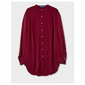 Winser London Silk Long Sleeve Tunic Top