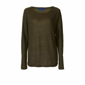 Winser London Linen Long Sleeve T Shirt