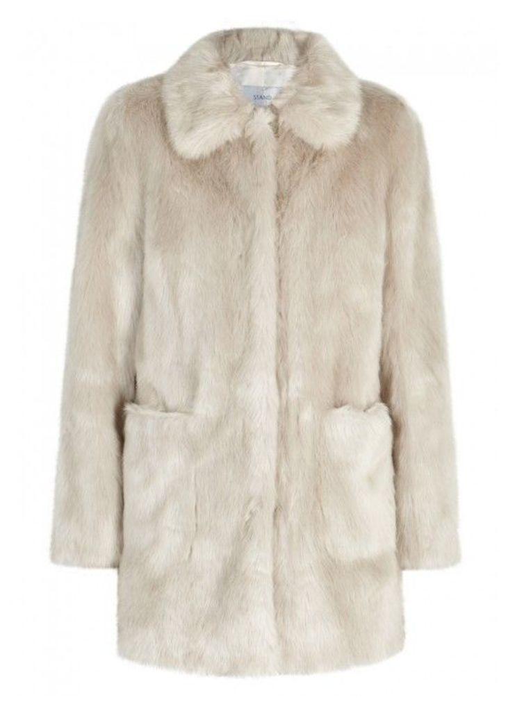 Stand Alexa Stone Faux Fur Jacket