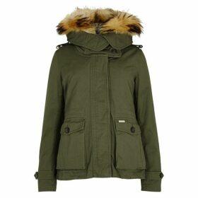 Woolrich Scarlett Eskimo Shell Jacket And Cotton Parka