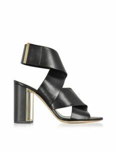 Nicholas Kirkwood Designer Shoes, Black Nappa Leather Nini Sandals