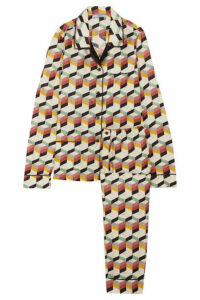 Prada - Printed Silk-twill Pajama Set - Gray