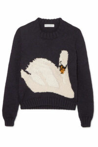 JW Anderson - Intarsia Wool Sweater - Navy