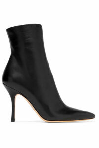 The Row - Gloria Leather Ankle Boots - Black