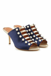 Malone Souliers Zada Leather Mules with Faux Pearls