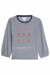 Velvet Jocelynn Striped Cotton Top