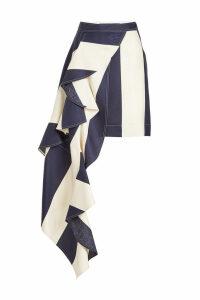 CALVIN KLEIN 205W39NYC Silk Skirt with Ruffle