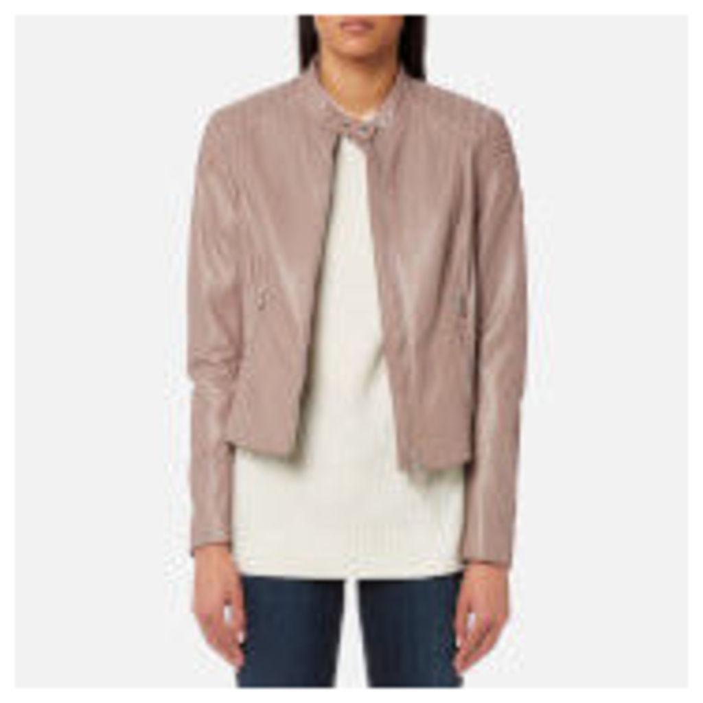 Belstaff Women's Mollison Leather Biker Jacket - Ash Rose - IT 40/UK 8 - Pink